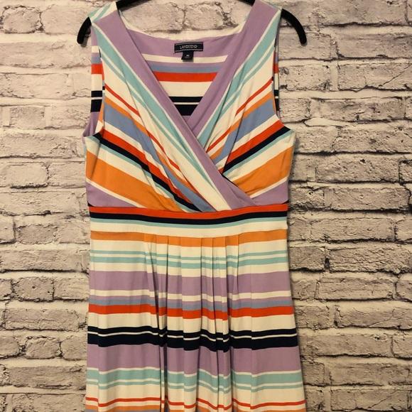 Lands' End Dresses & Skirts - Lands End Fit and Flare Striped Dress